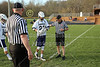 Team Captains and the Coin Toss - Licking Valley High School at Granville High School Blue Aces - Friday, April 17, 2015