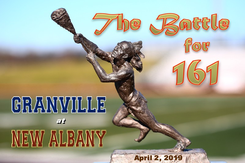 Granville High School Blue Aces at New Albany High School Eagles - The Battle for 161 - Tuesday, April 2, 2019