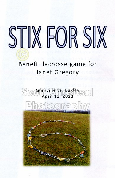 Friday, April 26, 2013 - Bexley Lions at Granville Blue Aces - Benefit Lacrosse Game for Janet Gregory of Granville High School