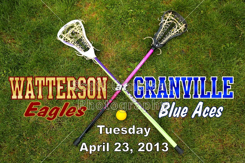 Tuesday, April 23, 2013 - Columbus Bishop Watterson Eagles at Granville Blue Aces