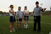 Team Captains and the Coin Toss - Tuesday, April 23, 2013 - Columbus Bishop Watterson Eagles at Granville Blue Aces