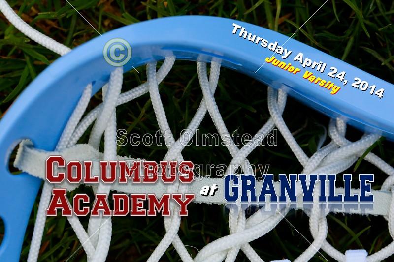 Thursday, April 24, 2014 - Junior Varsity - Columbus Academy Vikings at Granville Blue Aces