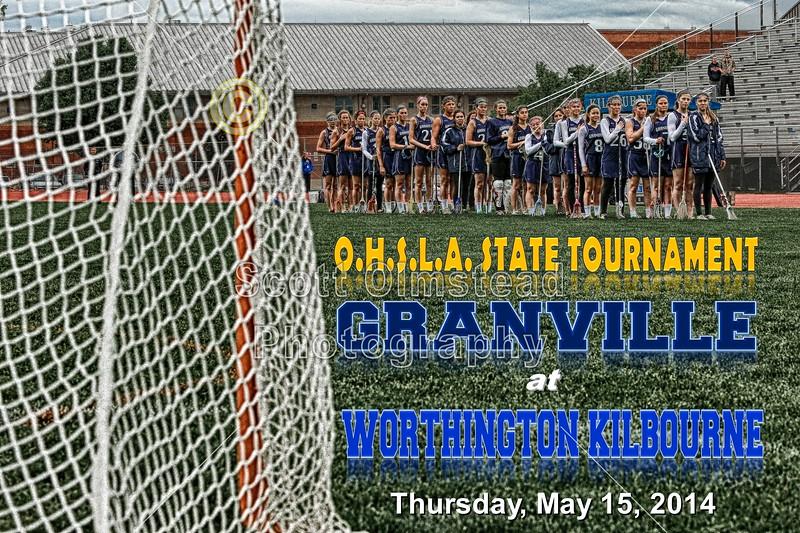 Thursday, May 15, 2014 - OHSLA State Tournament - Granville Blue Aces at Worthington Kilbourne Wolves