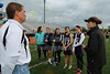 Team Captains and the Coin Toss - Thursday, May 15, 2014 - OHSLA State Tournament - Granville Blue Aces at Worthington Kilbourne Wolves
