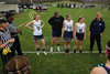 Team Captains and the Coin Toss - Pickerington North High School Panthers at Granville High School Blue Aces - Thursday, March 31, 2016
