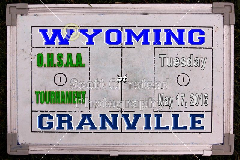Cincinnati Wyoming High School Cowboys at Granville High School Blue Aces - O.H.S.A.A. State Tournament - Tuesday, May 17, 2016