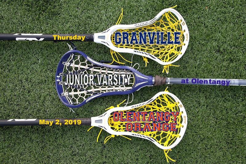 Junior Varsity - Granville High School Blue Aces at Olentangy Orange High School Pioneers - Thursday, May 2, 2019