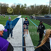 Team Captains and the Coin Toss - Columbus St. Francis DeSales High School Stallions at Granville High School Blue Aces - Tuesday, April 20, 2021
