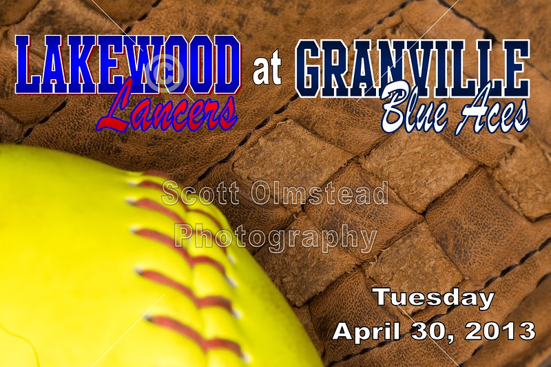 Tuesday, April 30, 2013 - Lakewood Lancers at Granville Blue Aces