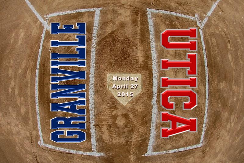 Utica High School Redskins at Granville High School Blue Aces - Monday, April 27, 2015