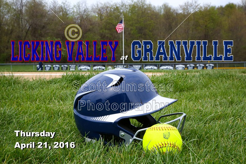 Licking Valley High School Panthers at Granville High School Blue Aces - Thursday, April 21, 2016