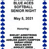 Senior Night - Northridge High School Softball at Granville High School Blue Aces - Thursday, May 6, 2021