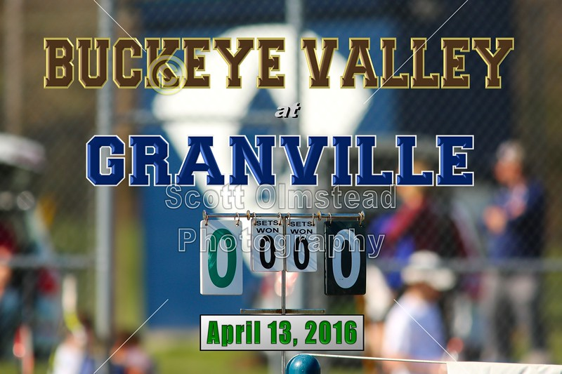 Buckeye Valley High School Barons at Granville High School Blue Aces - Wednesday, April 13, 2016