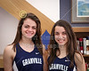 "(Size 8"" x 10"" with Vignetting) Natalie Price and Micaela DeGenero, Granville High School Blue Ace 2015-2016 Track State Champions"