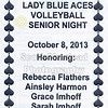 Senior Night - Tuesday, October 8, 2013 - Newark Catholic Green Wave at Granville Blue Aces