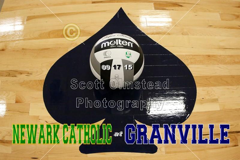 Newark Catholic High School Green Wave at Granville High School Blue Aces - Varsity - Thursday, September 17, 2015