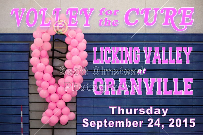 Licking Valley High School Panthers at Granville High School Blue Aces - Volley for the Cure - Thursday, September 24, 2105