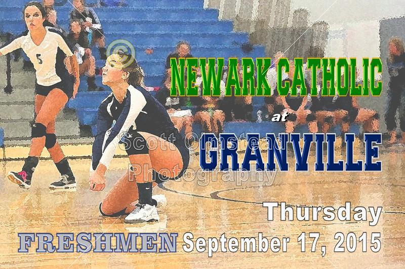 Newark Catholic High School Green Wave at Granville High School Blue Aces - Freshmen Game - Thursday, September 17, 2015