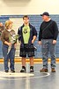 Senior Cole Gordon and Family  - Thursday, February 3, 2011 - Bexley Lions at Granville Blue Aces - SENIOR NIGHT