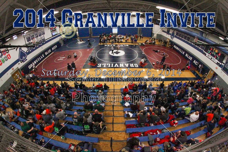 2014 Granville High School Blue Aces Wrestling Invitational - Saturday, December 6, 2014