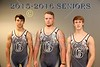 The Granville High School Blue Aces Senior Wrestlers for the 2015-2016 Season - Thursday, November 12, 2015