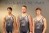 The Granville High School Blue Aces Senior Wrestlers for the 2015-2016 Season - Thursday, November 12, 2015