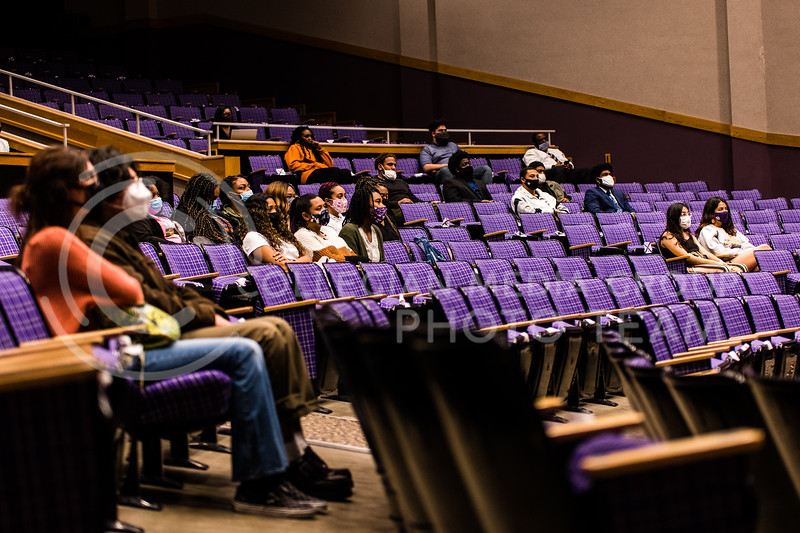 The Black Student Union hosted award winning author and daughter of civil rights leader, Malcolm X, Ilyasah Shabazz, for the annual Black History Month speaker. A viewing party occurred in Forum Hall on February 23, 2021. (Dylan Connell | Collegian Media Group)