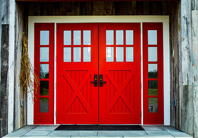 Red Doors at Kontokasta Winery Greenport, Long Island NY