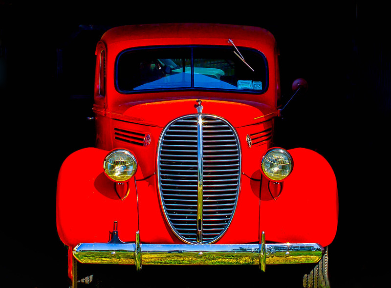 North Fork Red Truck