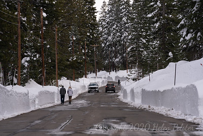 Unusually large numbers of pedestrians seen on Tahoe Donner roads. Here, the police helped locate a missing 7-year-old.
