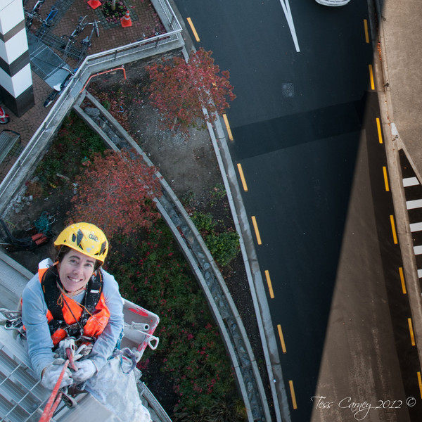 THE ABSEIL COMPANY: Me painting the hospital