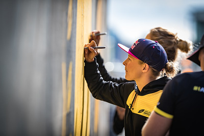 Athletes Wall Mural Signing: The Final Touch