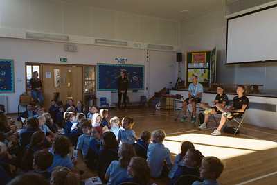 Jodie Stimpson and Oliver Turner School Visit