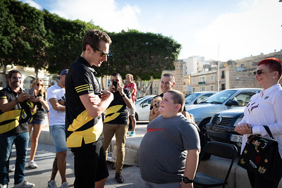 Alistair Brownlee meets Jake Vella