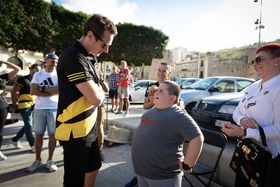 Alistair Brownlee meets Jake Vella
