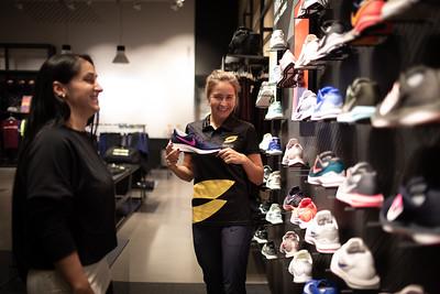 Athletes Visit Nike Store