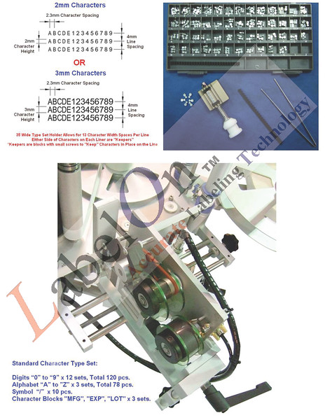 Hot Foil Coder as fitted to LabelOn™ Basic and LabelOn™ Modular Machines - Pneumatic Version - Note  the LabelOn Mini and Benchtop Series is Different