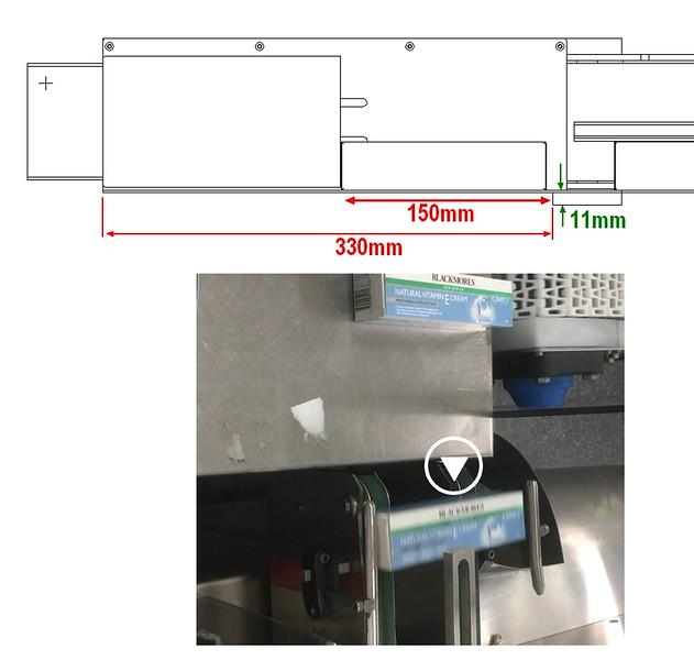 tumble check conveyor alignment