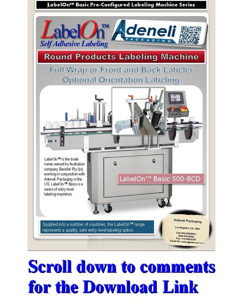 LabelOn™ Basic Full Wrap - Front and Back - Optional Orientation Brochure
