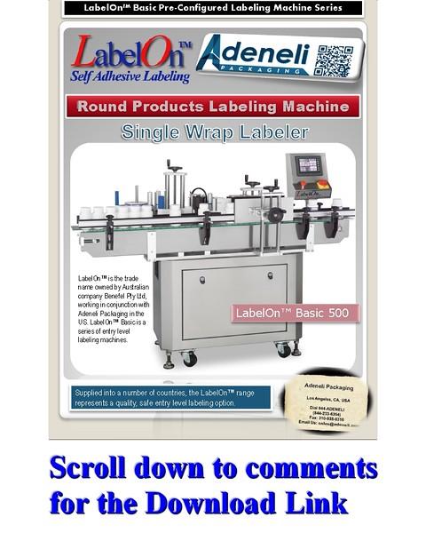 LabelOn™ Basic Wrap to 85% Labeling Machine Brochure