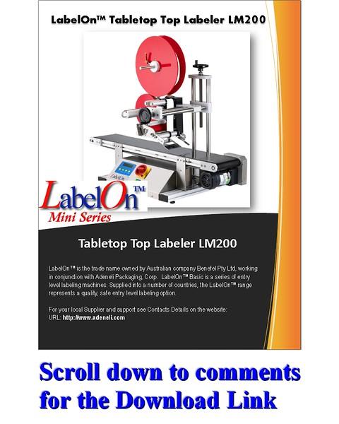 LabelOn™ Mini -Top Labeler