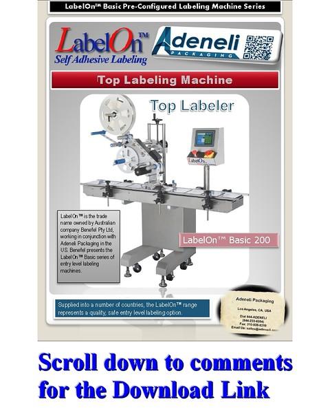 LabelOn™ Basic Top Labeling Machine Brochure