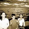 Kids at twilight on Mandeville Lakefront