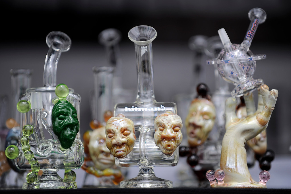 . Hit Man Glass during the High Times Cannabis Cup at Denver Mart in Denver, Colorado on April 19, 2014.  (Photo by Seth McConnell/The Denver Post)