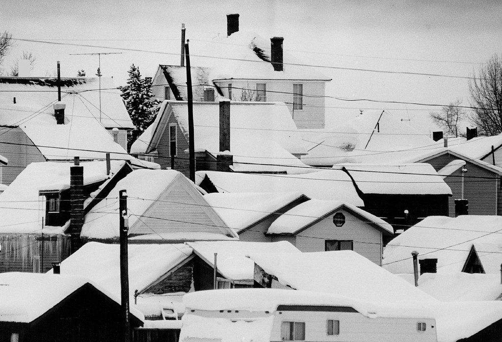 . JAN 8 1982, JAN 9 1982  Leadville lies under a blanket of snow, which is satisfying to skiers but is causing problems in Colorado mountain communities.  Credit: Denver Post