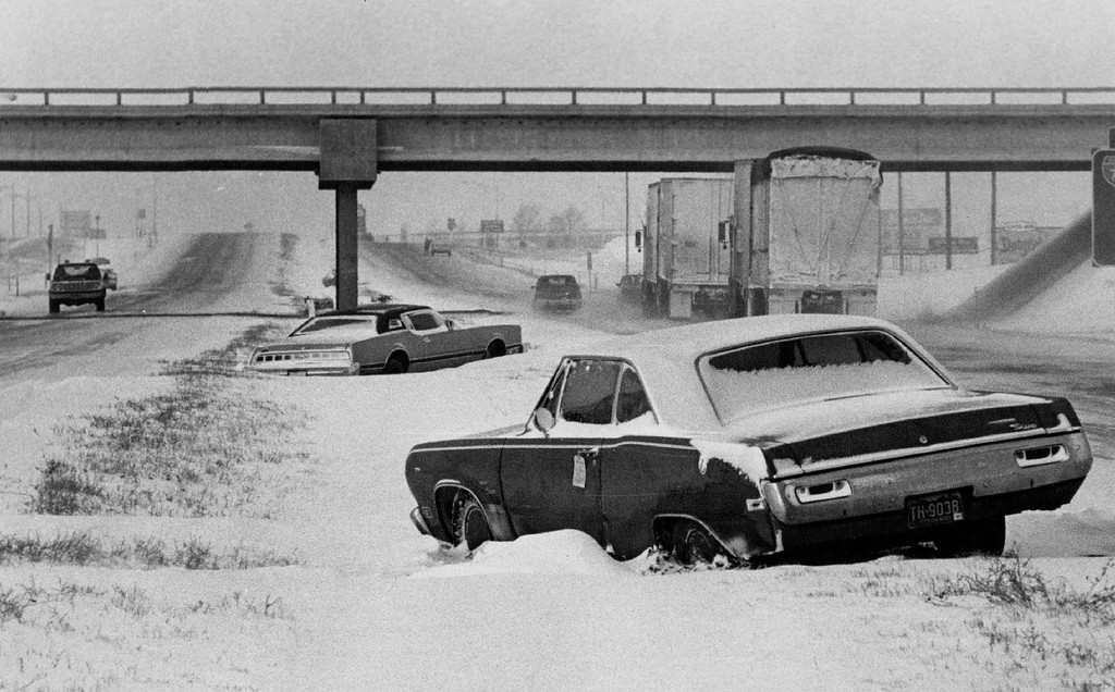 . JAN 26 1980, JAN 27 1980  WHITEOUTS FORCED MOTORISTS TO ABANDON THEIR CARS DURING FRIDAY�S BLIZZARD Cars still were abandoned along Interstate 70 near Stasburg Saturday morning in the aftermath of a fast-moving blizzard late Friday that forced many drivers to pull off the highway be-cause of ground-level whiteouts caused by wind-driven snow. Police agencies said most drivers had picked up their cars a few hours later and motorists who were given temporary shelter for the night were back on their way.  Credit: Denver Post