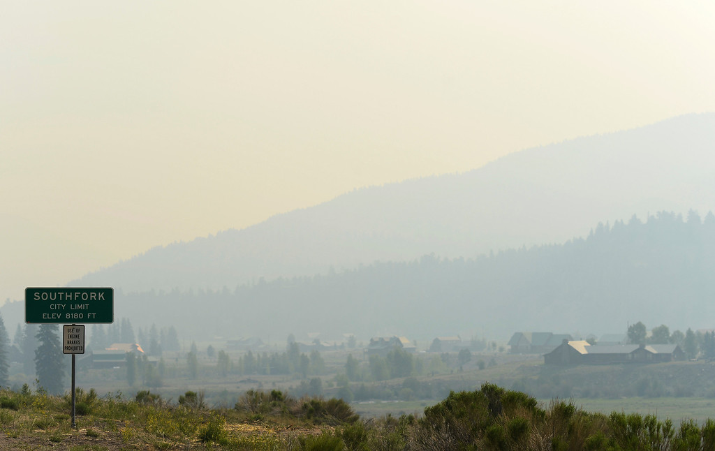 . City of South Fork is covered by smoke from the West Fork Complex fire on Saturday, June 22, 2013. (Photo By Hyoung Chang/The Denver Post)
