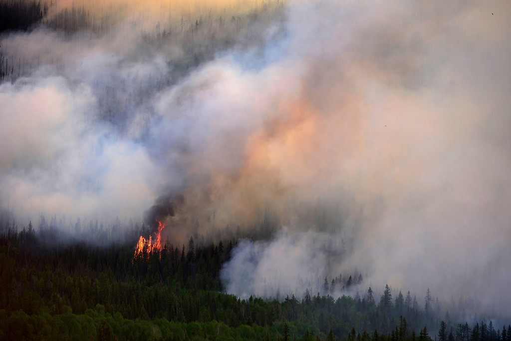 . The West Fork Fire continues to burn near Creede. The West Fork Fire grew to more than 70,000 acres overnight. (Photo by AAron Ontiveroz/The Denver Post)