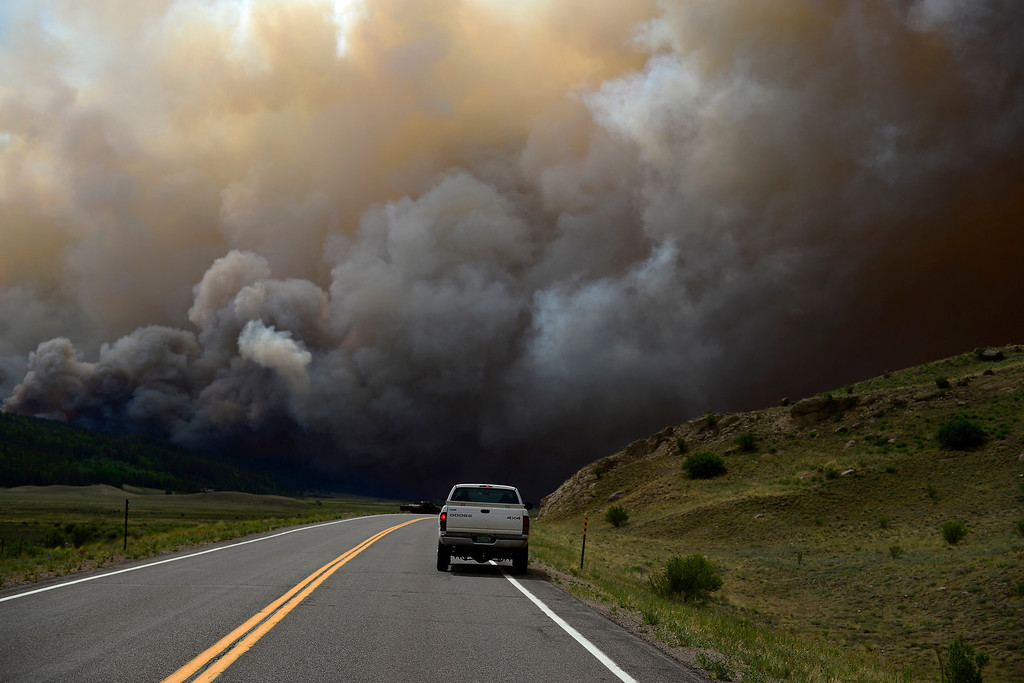 . The Papoose heated up in the late afternoon near Creede. The three fires that make up the West Fork Complex fire now top out at more than 70 thousand acres. (Photo by AAron Ontiveroz/The Denver Post)