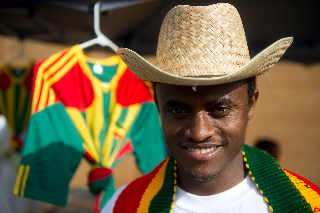 . Yibltal Tadesse poses for a portrait at the Taste of Ethiopia Grand Festival at Laredo Elementary School in Aurora, Co, on July 28, 2013. (Photo By Grant Hindsley/The Denver Post)